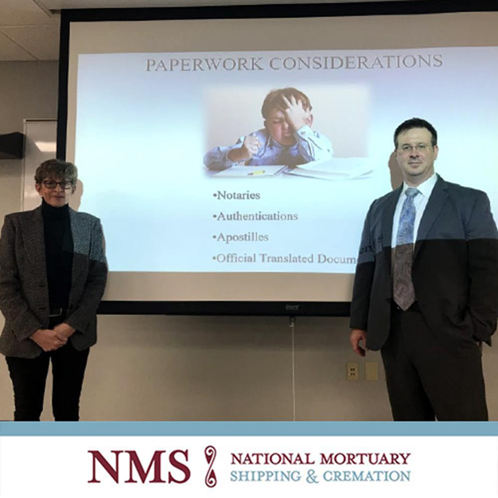NATIONAL MORTUARY SHIPPING AND CREMATION SPEAKS TO CLASS 158 AT PITTSBURGH INSTITUTE OF MORTUARY SCIENCE